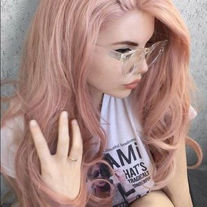 "💞TORI 26"" PINK CURL ROZAI LACE-FRONT WIG *NWT*"